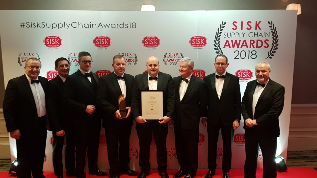 STS win Supply Chain Partner of the Year at the Sisks Awards 2018  hero